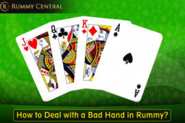 How to deal with bad rummy hands